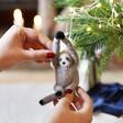 Felt Sloth Hanging Christmas Decoration