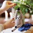 Felt Sloth Hanging Decoration in Yoga Pose