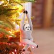 Felt Sloth Hanging Decoration on Tree