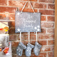 Lisa Angel Special Personalised Felt Family Stockings Wall Hanging