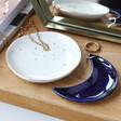 Lisa Angel Metallic Nesting Moon Trinket Dish Set