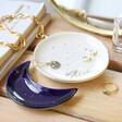 Lisa Angel Metallic Personalised Nesting Moon Trinket Dish Set