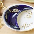 Personalised Name Nesting Moon Trinket Dish Set
