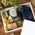 Inside of Personalised Christmas Eve Toys Print White Wooden Box
