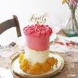 Finally Gold Acrylic Wedding Cake Topper in Cake