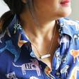 Lisa Angel Women's Personalised Acrylic Bar Name Necklace