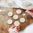 Lisa Angel Engraved Pack of 30 Personalised Wooden 'Free Drink' Tokens