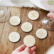 Lisa Angel Small Engraved Pack of 30 Personalised Wooden 'Free Drink' Tokens