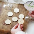 Lisa Angel Engraved Pack of 30 Wooden 'Free Drink' Tokens