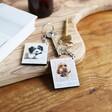 Lisa Angel Personalised Animal Photo Wooden Keyring