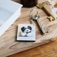 Ladies' Personalised Animal Photo Wooden Keyring