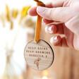 Lisa Angel Personalised 'Keep Going Keep Growing' Wooden Hanging Decoration