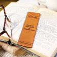 Personalised Engraved Leather 'Great Adventures' Bookmark
