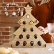 Lisa Angel Personalised Wooden Christmas Tree Wine Advent