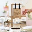 Lisa Angel Handmade Personalised Wooden Standing Wedding Table Number
