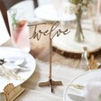 Lisa Angel Personalised Wooden Table Number As Centrepiece