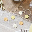 Handmade Set of Two Personalised Birth Flower Wine Glass Charms