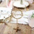 Lisa Angel Personalised Wooden Floral Wreath Table Decoration on Table