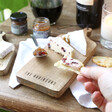 Personalised Small Rustic Wooden Cheeseboard From Lisa Angel