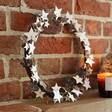 Starry Wooden Wreath Propped Inside