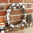 Starry Wooden Wreath Inside a Home