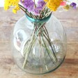 Close Up Photo of Large Round Recycled Glass Vase, 29cm