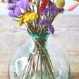 Close Up Photo of Flower Filled Round Recycled Glass Bottle Vase, 25cm