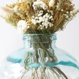 Close Up Shot of Top of Short Round Recycled Glass Vase, 22cm