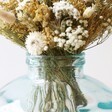 Close Up Photo of Short Round Recycled Glass Vase, 22cm