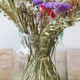 Close Shot of Wide Recycled Glass Vase, H23cm filled with Flowers