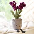 Lisa Angel Jellycat Amuseable Purple Orchid Pot Soft Toy