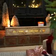 Rustic Personalised Christmas Wooden Light Box