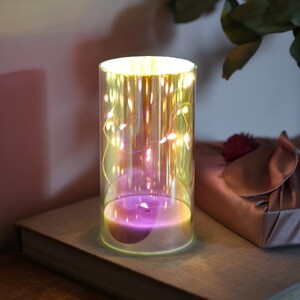 LED Iridescent Decorative Cylinder Light