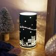 Personalised LED Teal Houses Decorative Cylinder Light