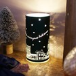 Personalised LED Teal Houses Decorative Light