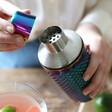 Tropical Rainbow Studded Glass Cocktail Shaker