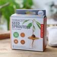 Lisa Angel Lisa Angel Kikkerland Set of Three Terracotta Seed Sprouters Packaging