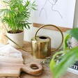 Vintage Gold Metal Watering Can