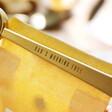 Close up of Personalisation from Lisa Angel Personalised Set of Three Brass Coffee Scoop and Clips