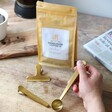 Lisa Angel Set of Three Brass Coffee Scoop and Clips