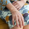 'Grandma' Meaningful Word Bangle in Rose Gold From Lisa Angel on Model