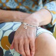 'Nana' Meaningful Word Bangle in Silver From Lsia Angel on Model