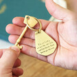 Lisa Angel Personalised Father's Day 'Your Handwriting' Antiqued Brass Keyring