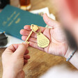 Personalised Father's Day 'Your Handwriting' Antiqued Brass Keyring for Him