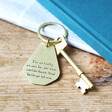 Men's Personalised Father's Day 'Your Handwriting' Antiqued Brass Keyring