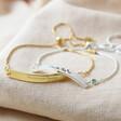 Lisa Angel Ladies' Personalised 'Handwriting' Curved Bar Bracelet with Birthstone