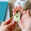 Lisa Angel Engraved Personalised Pet's Pawprint Antiqued Brass Keyring