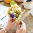 Pretty Personalised Teacher Token Dried Flower Posy From Lisa Angel