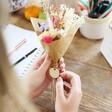 Lisa Angel Personalised Teacher Token Dried Flower Posy