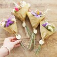 Collection of Lisa Angel Personalised Teacher Token Dried Flower Posy